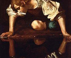 Narcyz w rodzinie- rodzina narcystyczna. Narcissus-Caravaggio_(1594-96)